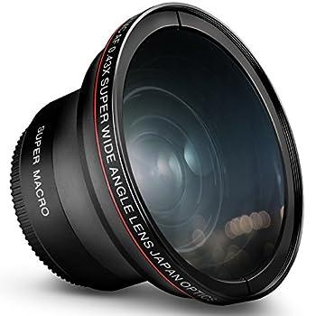 58MM 0.43x Altura Photo Professional HD Wide Angle Lens  w/Macro Portion  for Canon EOS 70D 77D 80D 90D Rebel T8i T7 T7i T6i T6s T6 SL2 SL3 DSLR Cameras