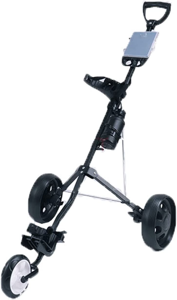Golf Trolley Cart 3 Wheel Foldable Limited time cheap sale Black Collapsi security Push