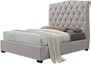 A to Z Furniture - Shannon Upholstered Platform Bed Super King in Beige Color With Mattress