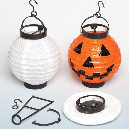Baker Ross AC382 papieren lantaarn met LED-licht – creatieve knutselset voor kinderen om te combineren, te versieren en neer te zetten voor het Chinese nieuwjaar, wit