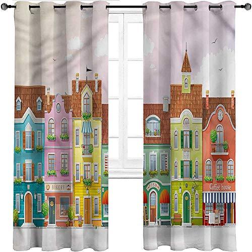 Unoseks Lanzon Verdunkelungsvorhänge, Vintage, Retro, Heraldic Royal Family Shade Fenster Paneele für Kinderzimmer, Polyester-Mischgewebe, Mehrfarbig 02, W183 cm x L160 cm