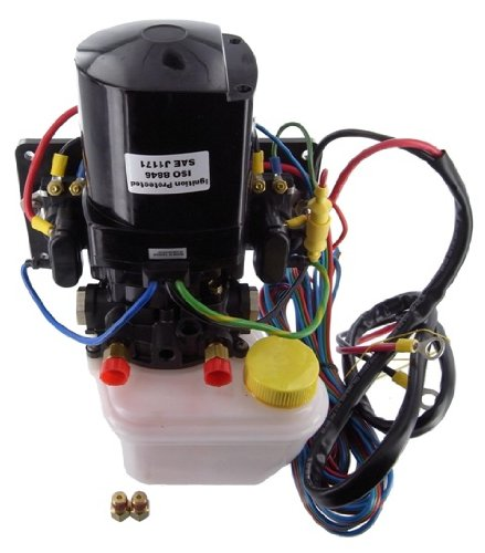 New Complete Side Mount Tilt Trim Motor Replacement For Mercruiser, Includes Pump and Reservoir, Plus Solenoids, Wiring Replacement For Mounting On The Side Hull 14336A20, 14336A8