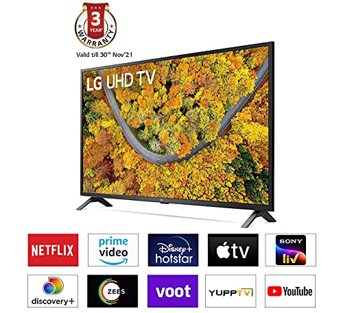 LG 127 cm (50 inches) 4K Ultra HD Smart LED TV 50UP7500PTZ (Rocky Black) (2021 Model)