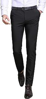 ビジネススラックス メンズ スリム チノパン 光沢 美脚 通勤 ロングパンツ ノータック ストレート 仕事着 イージーケア オールシーズン