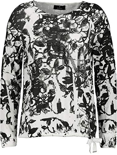 MONARI trui zwart patroon