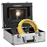Sewer Camera 100ft/30m, Comstex Sewer Inspection Camera 9 inch LCD Monitor with DVR, Video Pipe Inspection Equipment IP68 Camera with 12 LED Lights, Sewer Drain Camera for Plumber, Homeowners