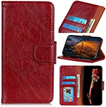 For Oppo K1 Case, Strong Magnetic Closure Leather Wallet Case with Card Holders and Kickstand for Oppo K1 (Color : Red)