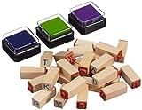 """small foot 8140 Stempel-Set """"Buchstaben"""" aus Holz, im praktischen Stoffbeutel"""