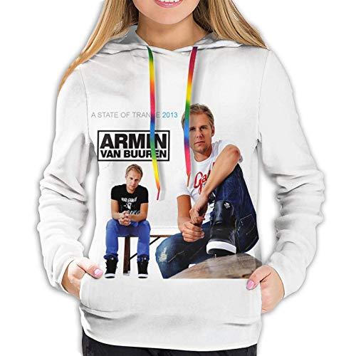 Armin Van Buuren - Sudadera de manga larga con capucha para mujer