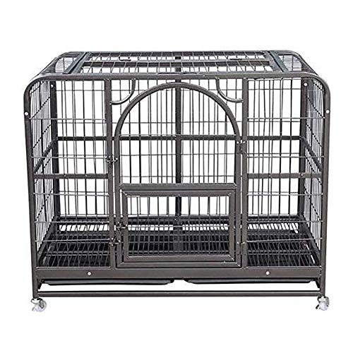YUHT Dog Crate Dog Carrier Dog Crates Pet Dog Cage Small and Medium Dogs Indoor and Outdoor Metal Folding Pet Dog Fence Fence Training Dog Products
