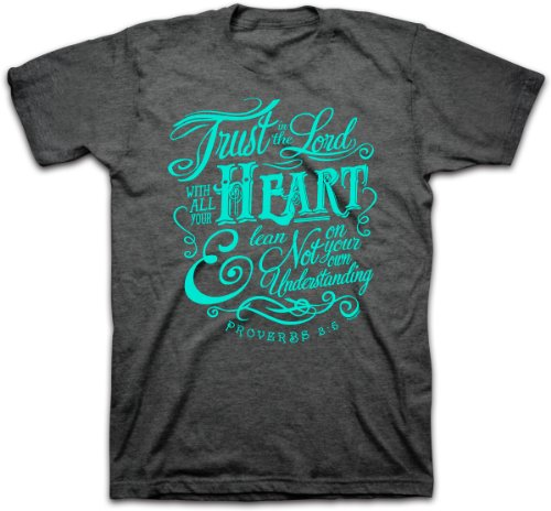 Trust In The Lord T-Shirt (Large), Charcoal Hthr