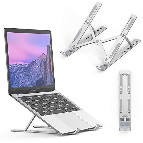 Elekin Supporto per Computer Portatile,Supporto per Laptop Ventilato in Alluminio,Supporto PC Portatile 6 Livelli Angolazione Regolabile Pieghevole Supporto per PC/iPad/Notebook/Tablet,10-17'