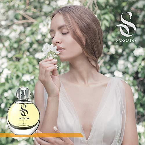 Sangado Sangado jasmin parfüm für damen 8-10 stunden langanhaltend luxuriös duftendes blumiges zarte französische essenszen extra-konzentriert parfüm ideales geschenk für frauen 50 ml spray