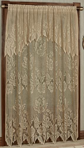 Hallie Lace Curtain Panel with Valance