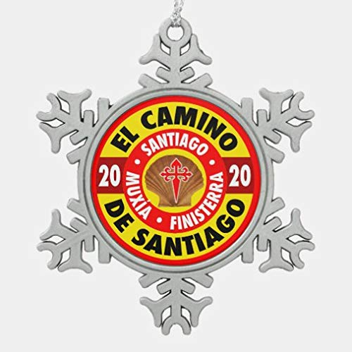 onepicebest El Camino De Santiago 2020 Snowflake Pewter Christmas Ornament Xmas Tree Hanging Decoration, Keepsake for Family Friends, Christmas New Year Gifts, Memorial Ornament