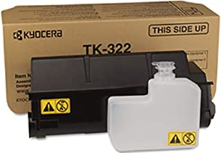 Kyocera 1T02F90US0 Model TK-322 Black Toner Kit For use with Kyocera ECOSYS FS-3900DN Monochrome Workgroup Laser Printer, Up to 15000 Pages Yield at 5% Average Coverage, Includes Waste Toner Container