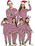 Sykooria Christmas Family Juego de Pijama a Juego Ropa de Dormir de Navidad de Cuerpo Entero Conjunto de Ropa de Dormir de algodón Pjs de Manga Larga para Mujeres Hombres Niños y niñas
