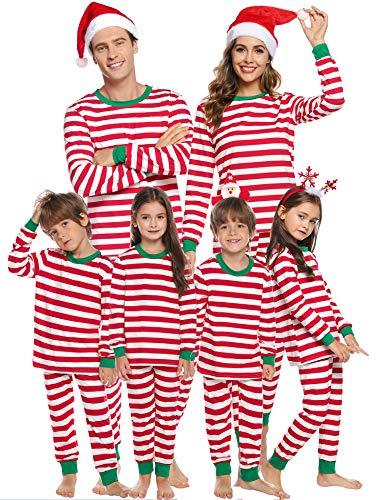 Sykooria Christmas Family Juego de Pijama a Juego Ropa de Dormir de Navidad de Cuerpo Entero Conjunto de Ropa de Dormir de algodón Pjs de Manga Larga para Mujeres...