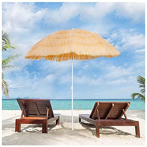 WXHXJY Ombrellone, Ombrellone da Spiaggia Hawaiano Tropicale da 1,8 M, Ombrellone in Paglia, Anti-Ultravioletto, Impermeabile, per Ombrellone da Giardino