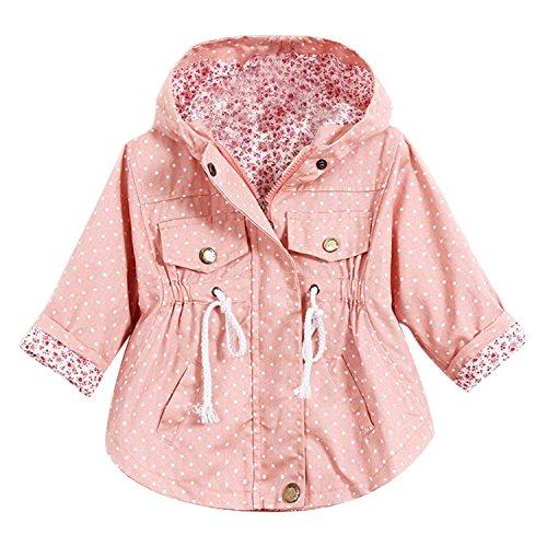 Chic-Chic Blouson Coupe-Vent Veste Blazar Fille Manche Longue Manteau Printemps Automne d'hiver pour Enfant Floral Imprimé Doublure