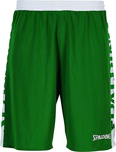 Spalding Mens 300502504_XL Shorts, Green,White