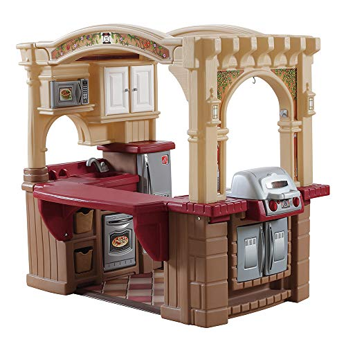 Step2 Grand Walk-In Kitchen & Grill | Large Kids Kitchen Playset Toy | Play Kitchen with 103-Pc...