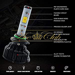 For 94-01 Acura Integra LS RS GS GS-R Low Beam 9006 HB4 #4 LED Headlight Complete Conversion Kit All in One 52W 6000LM Gen5 6000K White High Power