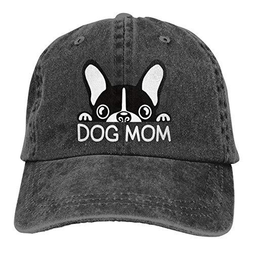 Waldeal Women's Boston Terriers Dog Mom Vintage Washed Hat Adjustable Baseball Cap