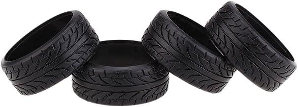 KKmoon 4pcs/Set 1/10 grãos Drift carro pneus pneu duro plástico para Traxxas Tamiya HPI Kyosho RC carro parte
