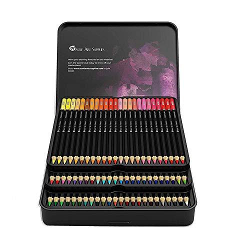 KunLS Colores acuarelables lapices de Colores Profesionales Paquete de lápices para Colorear para Adultos Adulto para Colorear lápices para Colorear lápiz
