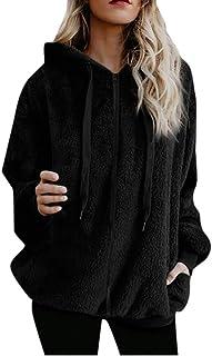 Xmiral Felpa Giacche Abbigliamento Giacca Donna Cappotto Outwear Donna Plus Size Felpa con Cappuccio Star Winter Warm Zipp...