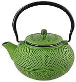 Teekanne 1,5 L Gusseisen + Teesieb Asia Style Kaffeekanne Grün