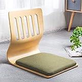YLCJ Chaise de Plancher Japonaise Chaise matérielle de fenêtre de Baie matérielle Respirante et Respirante Qui respecte l'environnement avec la Chaise Pad-j 46x36x42cm (18x14x17inch)