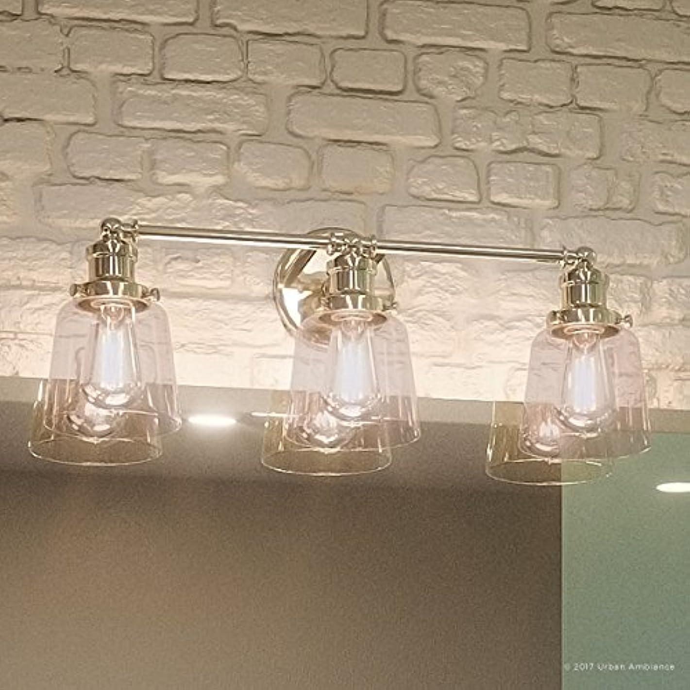 Luxury Industrial Chic Bathroom Vanity Light, Medium Size: 9