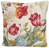 De tulipanes rojos funda para cojín Vintage amarillo y verde manta con diseño de...