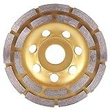 Muela abrasiva de copa de diamante de doble hilera, diámetro exterior 115 mm Diámetro interior 22,2 mm para corte más pesado de hormigón, granito, piedra, mármol, amoladora angular, disco, herramienta