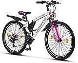 Licorne Bike Guide (Weiß/Rosa, 26), 26 Zoll, 24 Zoll, 20 Zoll Mountainbike,Shimano 21...