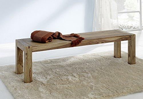 SAM® Bank Yoga 6537 aus Sheesham Palisander in Natur Sitzbank 160 x 40 cm natürliches Design