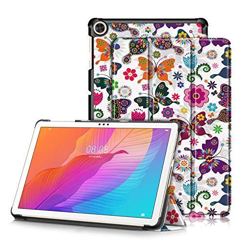 TOPCASE Custodia per Huawei MatePad T10S 10.1 pollici AGS3-L09 AGS3-W09 T10 9.7 pollici AGR-L09 AGR-W09 2020 Ultra-sottile Cover con Funzione Supporto,Farfalla