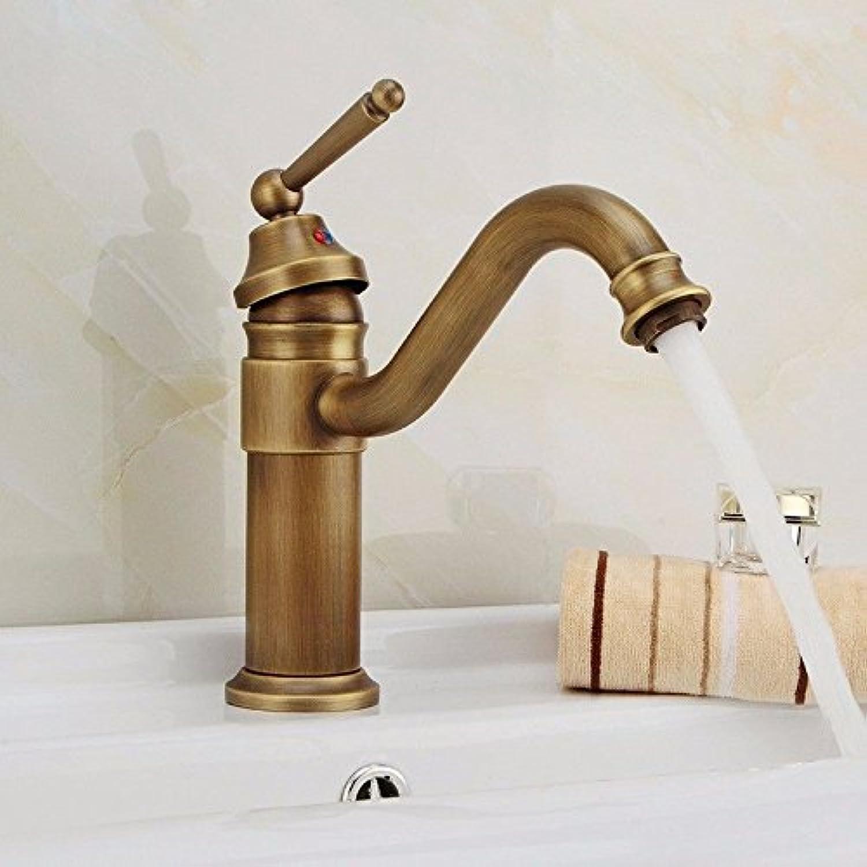 AOEIY Wasserhahn Küchen Mischbatterie Warmes und kaltes Kupfer Messing A Waschtischarmaturen Mixer Spültisch Armatur Bad Spülbecken Spültischbatterie badezimmer Küchenarmatur Edelstahl