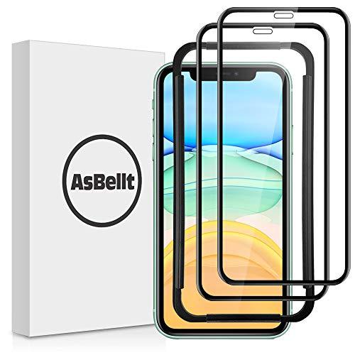 AsBellt [2 Pezzi] Vetro Temperato per iPhone 11/XR (6.1 Pollici), Pellicola Vetro Temperato [Senza bolle, Strumento di Installazione] Pellicola Protettiva per iPhone 11/iPhone XR