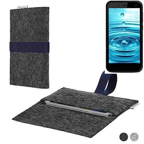 flat.design Handy Hülle Aveiro für Energizer H500S passgenaue Filz Tasche Case Sleeve Made in Germany