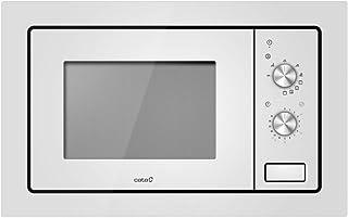 Cata Einbaubar   Modell MC 20 WH   20 Liter Fassungsvermögen   Fünf Leistungsstufen   Mikrowelle mit gleichzeitigem Grill Quarz 1000 W   Breite 60 cm   Farbe weiß, 5, Aluminium