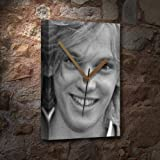 JAMIE CAMPBELL BOWER - Canvas Clock (A5 - Signed by the Artist) #js003