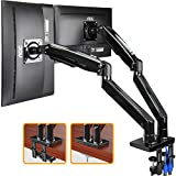 """ErGear 22-35"""" Premium Dual Monitor Stand Mount w/USB, Ultrawide Computer Screen Desk Mount w/Full Motion Gas Spring Arm, Height/Tilt/Swivel/Rotation Adjustable, Holds from 6.6lbs to 26.5lbs / arm"""