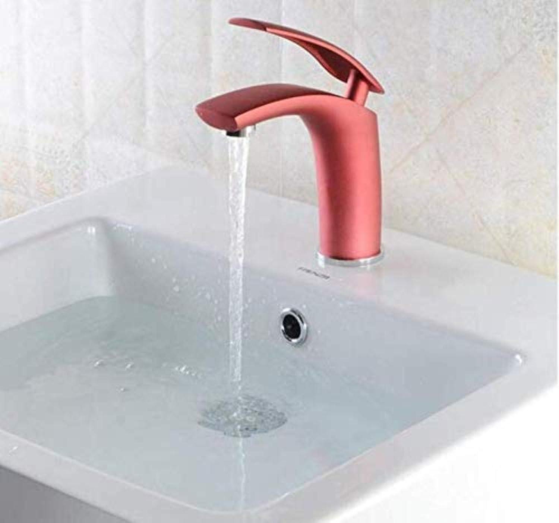 Wasserhahn Wasserhahn Waschtischmischer Luxus Design Multi-Farbe Messing Dull polnischen Stil Griff Waschbecken Wasserhahn Bad Becken Wasserhahn Mischbatterie Single