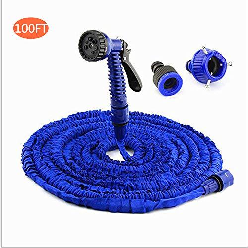 Schlauchregner Erweiterbar 100FT Gartenschlauch Flexibler Schlauch Flexibler Boquilla Einstellbarer Wasserschlauch Erweiterbar Bewässerung Einziehbarer Schlauch Textilwasserschlauch Erweiterbar