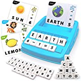 Flash Cards Matching Game, Sight Words Alphabet & Math Board Games Toys for Toddlers & Kids  Preschool Language Learning Educational Toys Ages 3 4 5 6 7 8 Years Old (Blue)