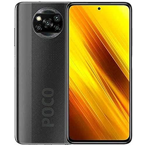 """POCO X3 NFC - Smartphone 6.67"""" FHD+, 6 + 128GB, Snapdragon 732G, 64 MP con IA, Quad-cámara, 5160 mAh, color Gris sombra [Versión ES/PT]"""