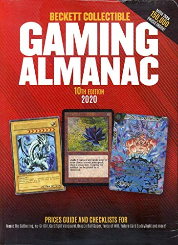 2020 Beckett Collectible Gaming Almanac Card Price Guide 10th Edition Magic the Gathering, Yu-Gi-Oh, Dragon Ball Super